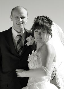 Newly Wedded Couple Stock Photo
