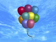 Balloons Floating Stock Photos