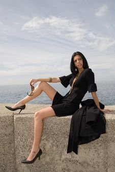 Free Fashion Woman In A Port Stock Images - 4739704