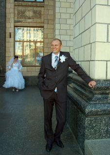 Newly Wedded Couple Royalty Free Stock Image