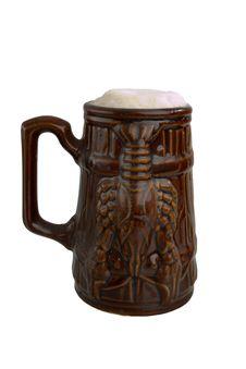 Free Beer In A Clay Mug Stock Photos - 4740043