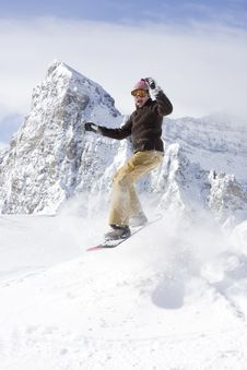 Free Snowboarder Royalty Free Stock Photos - 4741008