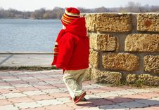 Free Little Girl  Approaches To Lake Royalty Free Stock Photos - 4741098