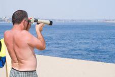 Sea Rescuer Royalty Free Stock Photos