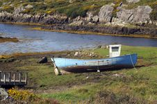 Free Stranded Boat Stock Image - 4741611