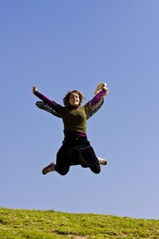 Free Young Woman Jumping Stock Photos - 4741663