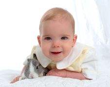 Free Bunny With Boy Stock Photography - 4742302