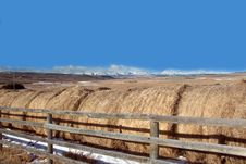 Free Rolls Of Hay Near Cochrane, Alberta, Canada Stock Photography - 4742932