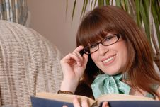 Free Cute Girl Reading Book Stock Photography - 4743462