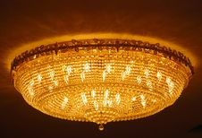 Crystal Pendant Lamp Stock Images