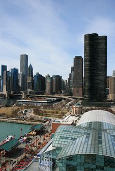 Free The High-rise Buildings In Chicago Royalty Free Stock Photos - 4744528