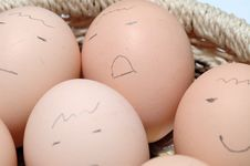 Face Of Egg Royalty Free Stock Images