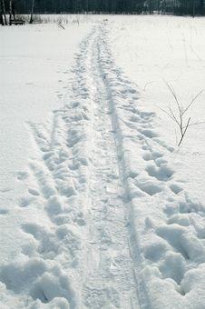 Free Snow Road Stock Image - 4745021