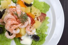 Free Prawn Salad. Stock Photography - 4745022