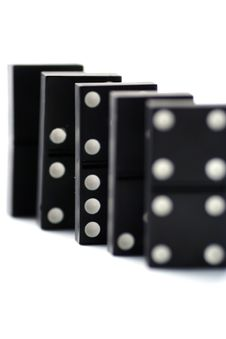 Free Dominoes Isolated In White Stock Photography - 4745362