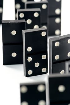 Free Dominoes Isolated In White Stock Photography - 4745372