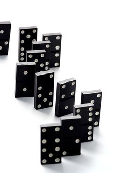 Free Dominoes Isolated In Dark Royalty Free Stock Images - 4745379