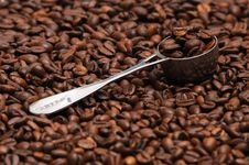 Free Coffee And Spoon Royalty Free Stock Photo - 4745505