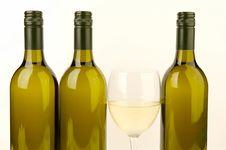 Free White Wine Bottles Stock Image - 4745621
