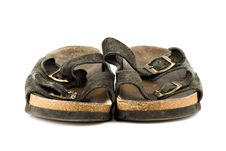 Free Old Grungy Sandal Isolated On White Royalty Free Stock Photos - 4746348