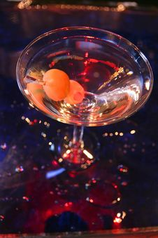 Martini With Olives Stock Image