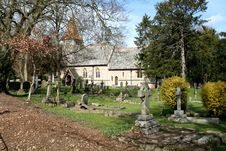 Free English Village Church And Graveyard Stock Photography - 4746552