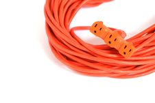 Orange Extension Cord Stock Images