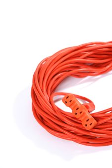 Free Orange Extension Cord Stock Images - 4746734