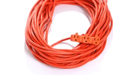 Free Orange Extension Cord Royalty Free Stock Image - 4746776