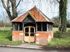 English Village Bus Shelter Royalty Free Stock Image