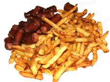 Free Roast  Potatoes And Sausages Royalty Free Stock Photo - 4747675