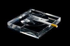 Ashtray And Cigarette Stock Image