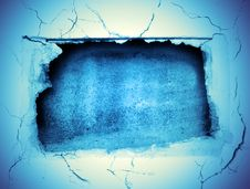 Free Crushed Hole At The Wall Stock Image - 4748931
