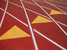 Free Running Track-Three Triangle Markers Royalty Free Stock Photography - 4748977