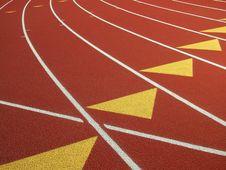 Free Running Track-Lane Markers Royalty Free Stock Image - 4748996