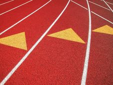 Free Running Track-Three Lane Markers Royalty Free Stock Images - 4749029