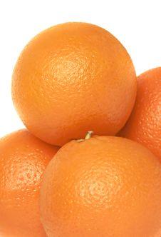 Free Oranges On White Royalty Free Stock Image - 4749056