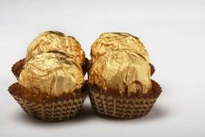 Free Chocolate Truffles In Foil Wrap Stock Photos - 4749863