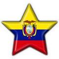 Free Ecuador Button Flag Star Shape Stock Photos - 4758723