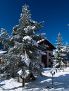Free Garden And Chalet After Heavy Snow Stock Photo - 4759620