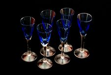 Free Six Colored Glasses Royalty Free Stock Photos - 4750668