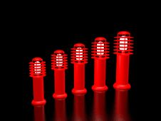 Five Red Lanterns Stock Images