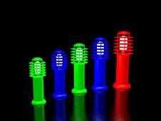 Five Color Lanterns Royalty Free Stock Photos
