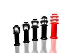 Free One Red Lantern And Four Black Lanterns Stock Photos - 4750803