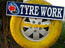 Tyre Work Royalty Free Stock Photography