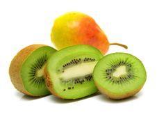 Pear And Kiwi 3 Stock Photo