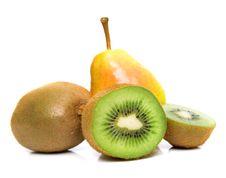 Pear And Kiwi Stock Photography