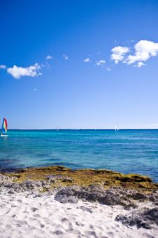 Free Looking Out Into The Ocean And Seeing Sail Boats Stock Image - 4751781