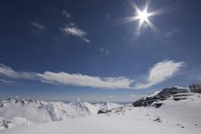Free Snowy Mountain Landscape In Switzerland Royalty Free Stock Images - 4751799