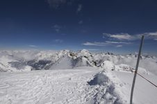 Free Snowy Mountain Landscape In Switzerland Stock Images - 4751854